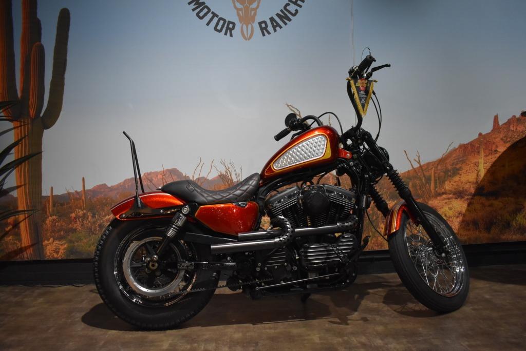 Harley Davidson, sportster, 1200, Custom, Scarlet